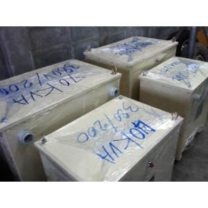 หม้อแปลง input 380/400 VAC  3P  output 200/220   42KVA